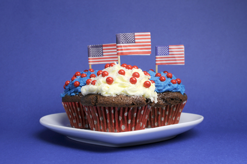 July 4 cupcakes