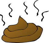 Clipart of dog poop.